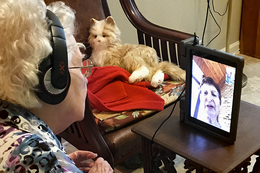 PALS—People Actively Loving Seniors—provided a way for many of our members to connect virtually with those in assisted living facilities.